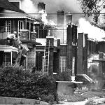 One of the many problems in Detroit was that the houses were often only the width of a driveway apart so, like an ice cube tray, the fire just spilled over into the next house.