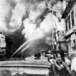 Detroit police, many of whom were off duty or away on vaction, hurried to the scene still in there civilian clothes to protect firemen from rioters.