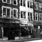 The first fire started at Hardy Drugs which was black owned. Arsonist often targeted businesses they owed money to, making sure that all the all the credit records indicating who owed what went up in flames.