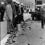 Federal marshals were forbidden to shoot at rioters but where allowed to fire tear gas as the litony of empty canisters would suggest.