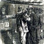 Illustration depicting the first black vote in 1867.