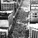 Crowd was estimated at a minimum of 125,000 making it the largest civil rights event to date.